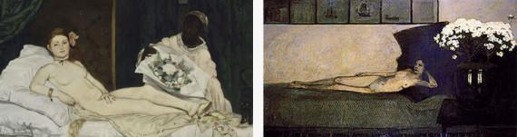 Edouard Manet_Olympia és Romaine Brooks_White Azaleas 1910